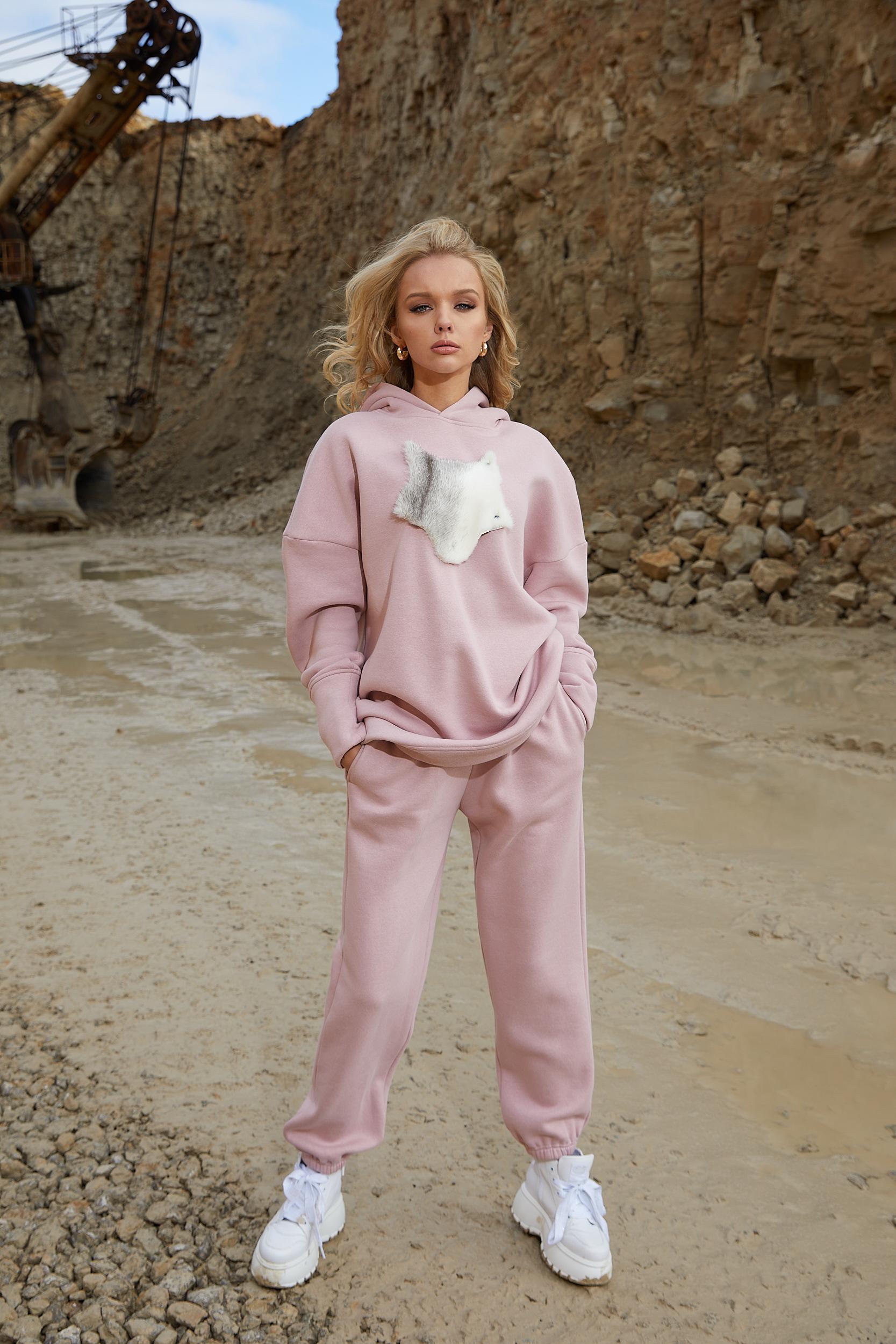 Kelnės Dusty pink